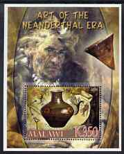 Malawi 2006 Art of the Neanderthal Period perf m/sheet #1 with Scout Logo unmounted mint