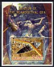 Malawi 2006 Weapons of the Neanderthal Era perf m/sheet with Scout Logo unmounted mint