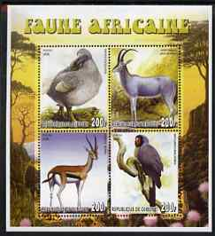 Djibouti 2006 African Fauna perf sheetlet containing set of 4 unmounted mint