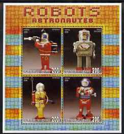 Djibouti 2006 Robots - Astronauts perf sheetlet containing 4 values unmounted mint