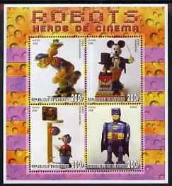 Djibouti 2006 Robots - Heroes of the Cinema perf sheetlet containing 4 values unmounted mint