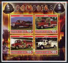 Djibouti 2006 Fire Engines #1 perf sheetlet containing 4 values unmounted mint