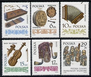 Poland 1984 Musical Instruments (1st series) set of 6 unmounted mint SG 2914-19