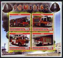 Djibouti 2006 Fire Engines #2 perf sheetlet containing 4 values unmounted mint