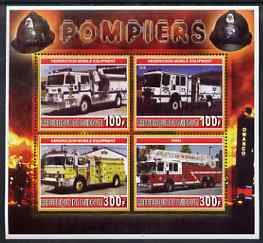 Djibouti 2006 Fire Engines #3 perf sheetlet containing 4 values unmounted mint