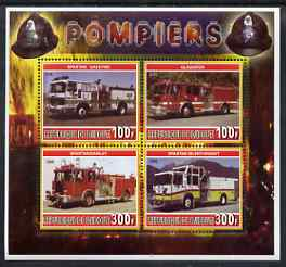 Djibouti 2006 Fire Engines #4 perf sheetlet containing 4 values unmounted mint