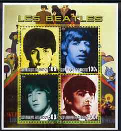 Djibouti 2006 The Beatles perf sheetlet containing 4 values unmounted mint