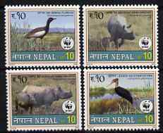 Nepal 2000 WWF - Wildlife perf set of 4 unmounted mint, SG 731-34
