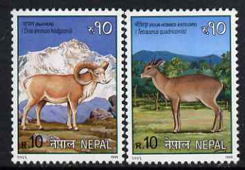 Nepal 1999 Mammals perf set of 2 unmounted mint, SG 698-99