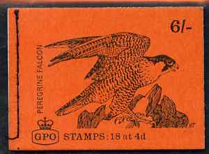 Booklet - Great Britain 1968-70 Birds - Perigrine Falcon (red cover Sept 1968) 6s booklet complete and fine, SG QP41