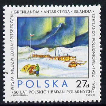 Poland 1982 Polar Research 27z value (Helicopter & Research Station) unmounted mint SG 2845