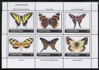 Chartonia (Fantasy) Butterflies perf sheetlet containing 6 values unmounted mint