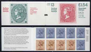 Booklet - Great Britain 1981-85 Postal History series #13 (Surface Printed Stamps) \A31.54 booklet with selvedge at left, SG FQ3A