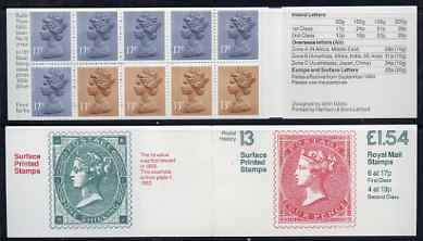 Booklet - Great Britain 1981-85 Postal History series #13 (Surface Printed Stamps) \A31.54 booklet with selvedge at right, SG FQ3B