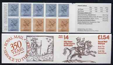 Booklet - Great Britain 1981-85 Postal History series #14 (Postal Messengers) \A31.54 booklet with selvedge at right, SG FQ4B