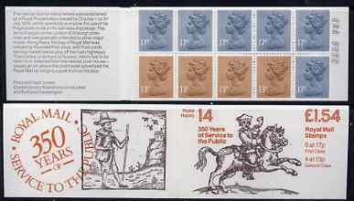 Booklet - Great Britain 1981-85 Postal History series #14 (Postal Messengers) \A31.54 booklet with selvedge at left, SG FQ4A