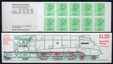 Booklet - Great Britain 1983 Railways Engines #3 (LNER Mallard) \A31.25 folded booklet with margin at left SG FK7A