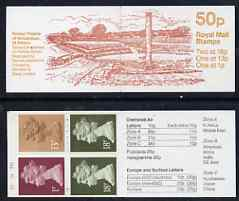 Booklet - Great Britain 1986 Roman Britain No.2 (Roman Theatre, St Albans) 50p booklet complete with cyl numbers, SG FB37