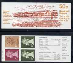 Booklet - Great Britain 1986 Roman Britain No.3 (Porchester Castle) 50p booklet complete with cyl numbers, SG FB38