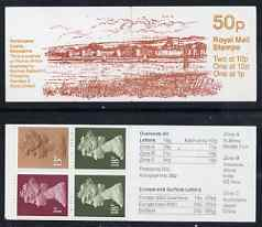 Booklet - Great Britain 1986 Roman Britain No.3 (Porchester Castle) 50p booklet complete, SG FB38