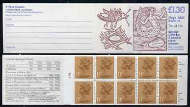 Booklet - Great Britain 1988 Linean Society \A31.30 booklet complete with cyl nos in margin at left, SG FL12A