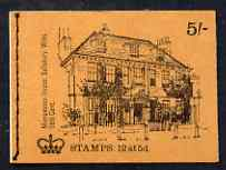 Booklet - Great Britain 1968-70 English Homes - Mompesson House 5s booklet (Oct 1969) complete and fine SG HP31