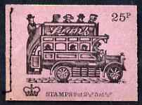 Booklet - Great Britain 1971-73 Veteran Transport #2 - B-Type Omnibus (Lyons Tea) 25p booklet (Aug 1971) complete and fine, SG DH42