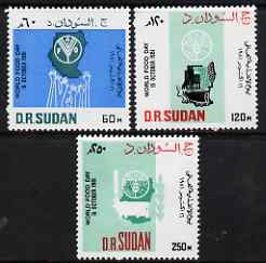 Sudan 1983 World Food Day perf set of 3 unmounted mint, SG 399-401