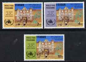 Sudan 1973 World Food Programme perf set of 3 unmounted mint, SG 334-36