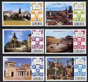 Liberia 1971 Munich Olympic Games (Views of Munich) set of 6 unmounted mint, SG 1067-72