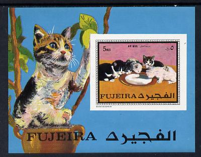 Fujeira 1970 Cats imperf m/sheet unmounted mint (Mi BL 34B)