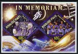 Haiti 2006 In Memoriam (Soyuz & Challenger) perf sheetlet containing 2 diamond shaped values unmounted mint