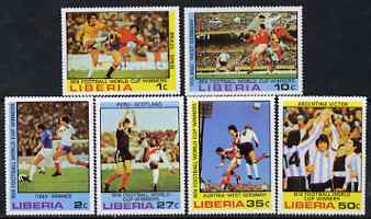 Liberia 1978 Football World Cup Winners perf set of 6 unmounted mint SG 1356-61