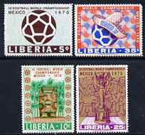 Liberia 1970 Football World Cup set of 4 unmounted mint SG 1020-23