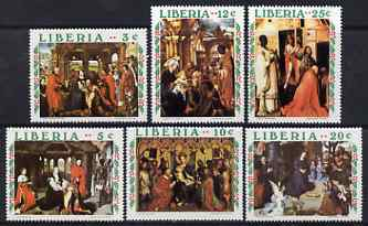 Liberia 1970 Christmas - Adoration of the Magi set of 6 unmounted mint SG 1043-48