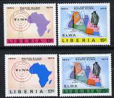 Liberia 1974 ELWA Radio Station Anniversary perf set of 4 unmounted mint, SG 1183-86