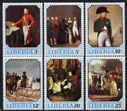 Liberia 1970 Napoleon Birth Bicentenary perf set of 6 unmounted mint SG 1034-39