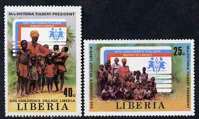 Liberia 1979 SOS Children's Village perf set of 2 unmounted mint SG 1440-41