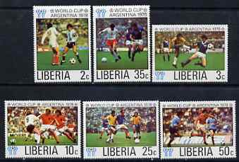 Liberia 1978 Football World Cup perf set of 6 unmounted mint SG 1341-46