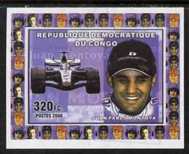 Congo 2006 Formula 1 Drivers #2 Juan Montoya imperf sheetlet cto used