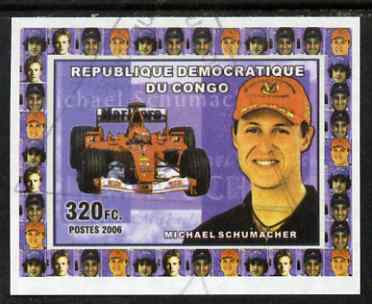 Congo 2006 Formula 1 Drivers #3 Michael Schumacher imperf sheetlet cto used