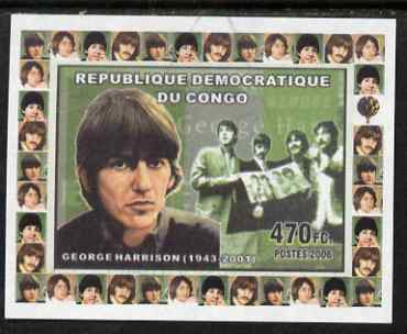 Congo 2006 The Beatles #3 George Harrison imperf sheetlet cto used