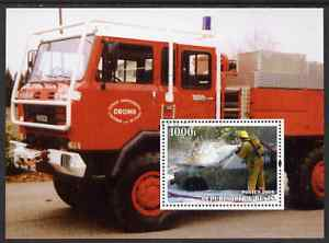 Benin 2004 Fire Engines #1 perf m/sheet fine cto used