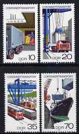 Germany - East 1978 Container Goods Traffic perf set of 4 unmounted mint, SG E2037-40