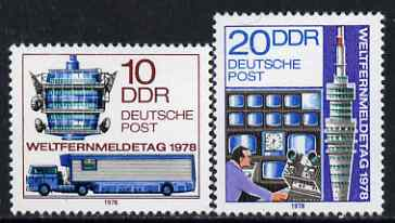 Germany - East 1978 World Telecommunications Day perf set of 2 unmounted mint, SG E2031-32