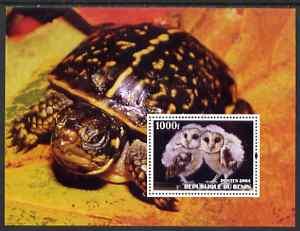 Benin 2004 Owls & Tortoises perf s/sheet #3 fine cto used