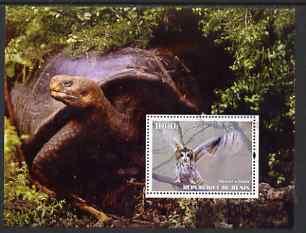 Benin 2004 Owls & Tortoises perf s/sheet #4 fine cto used