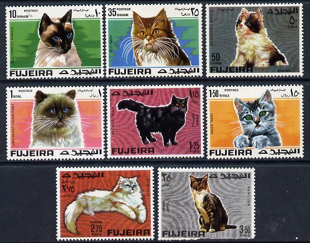 Fujeira 1967 Cats set of 8 unmounted mint (Mi 206-13A)