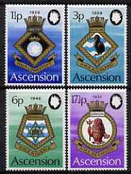 Ascension 1972 Royal Naval Crests - 4th series perf set of 4 unmounted mint, SG 154-7