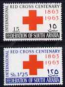 South Arabian Federation 1965 Red Cross perf set of 2  unmounted mint, SG 154-7